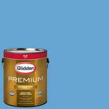 glidden premium 1 gal hdgv02d harbor blue flat latex exterior