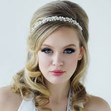 wedding headbands pearl vine headband zaphira bridal