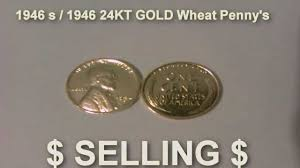 penny s 24kt gold plated wheat penny 1946 s 1946 youtube