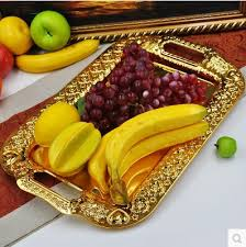 wedding tray 46cm 28cm large size embossed metal serving tray storage tray