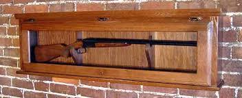 Glass Gun Cabinet Oak Gun Display Cabinets