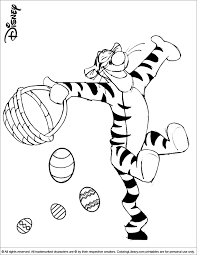 cute tigger easter coloring coloring pages