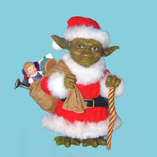 5 wars yoda in santa claus suit with gifts fabriche