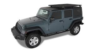 grey jeep wrangler 4 door rhino rack backbone system w pioneer roof rack 2007 2017 jeep wrang
