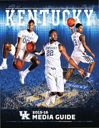 2015 16 kentucky men u0027s basketball media guide by university of