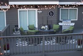 deck string lighting ideas deck decorating ideas fresh paint and string lights