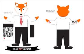 what does the fox say valentine edition free printable kiki