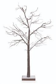 twig tree with lights 48 led lighted poseable snowy brown leafless twig tree christmas