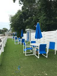 out door seating at town n country family resort cape cod