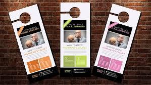 door hanger template flyer templates creative market