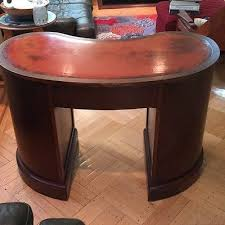 Kidney Bean Shaped Desk 1951 Maddox Tables Antique Kidney Bean Shaped Desk 600 00