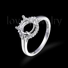ring settings without stones aliexpress buy 7mm cut charm ring settings without