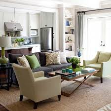 Decorating With Brown Leather Sofa Living Room Brown Sofa Green Accents Bhg Decorating With Leather
