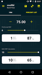 Calculate Your Max Bench Onerm 1 Rep Max Calculator Android Apps On Google Play