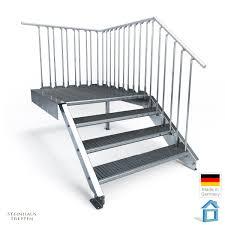 steinhaus treppen anbau podest mit stahltreppen aufgang 4 stufen steinhaus treppen