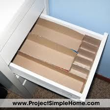 Armoire Office Desk by How To Make Custom Drawer Dividers From Recycled Boxes Step One