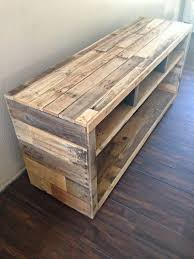Make Your Own Reclaimed Wood Desk by Best 25 Reclaimed Wood Media Console Ideas On Pinterest Diy Tv