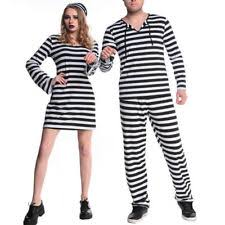 Halloween Jail Costumes Men Halloween Costume Jail Jailhouse Convict Prisoner Fancy Dress