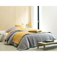 jeté de canapé jaune chemin de lit aspect peau becquet gris becquet linge de maison