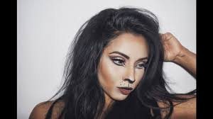easy lion halloween makeup youtube