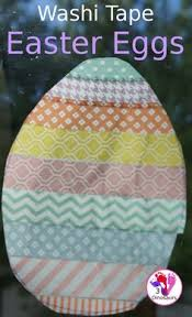 Easter Egg Window Decorations by Easy To Make Washi Tape Easter Eggs They Make A Great Window