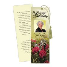 memorial bookmarks memorial bookmarks bouquet memorial bookmark template
