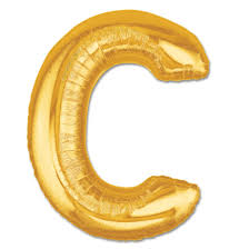 jumbo balloons letter c gold foil balloon 40 inch inflated balloon shop nyc