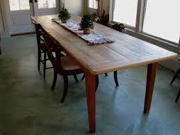 Long Rustic Dining Table With Painted Base Lake And Mountain Home - Old pine kitchen table
