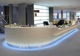 Fancy Reception Desk Spa Reception Desk Acrylic Solid Surface Cashier Counter Reception