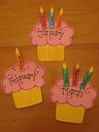 birthday board cupcake birthday wall preschool kindergarten bulletin board idea