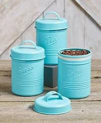 vintage kitchen canisters vintage set of 3 blue metal kitchen canisters tea sugar coffee