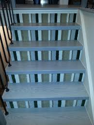 decorations affordable wooden stair treads design with patterned