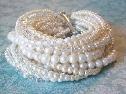 wedding bracelet pearl images Bridal jewelry bracelet chunky pearl bridal bracelet pearl wedding jpg