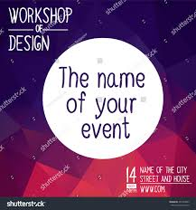 poster design event online course training stock vector 491289043