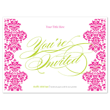 you re invited pink damask invitations cards on pingg