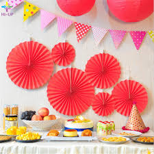 cheap paper fans 6pcs lot solid color cheap paper fans for wedding tissue paper