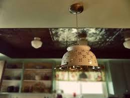 Country Kitchen Ceiling Lights Best 25 Colander Light Ideas On Pinterest Diy Kitchen Sinks
