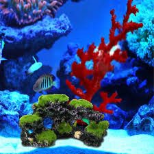 sale resin simulation aquarium mountain coral reef rock cave