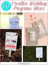 wedding program ideas 10 creative wedding program ideas shop girl daily