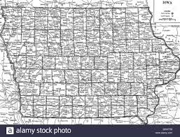 Iowa State Map Old Map Of Iowa State 1930 U0027s Stock Photo Royalty Free Image