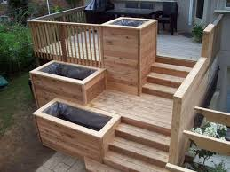 Deck Planters And Benches - best 25 deck planters ideas on pinterest deck with planter