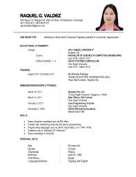 in resume resume 1