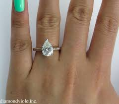 pear shaped gold engagement rings 2 47ct estate vintage pear shape engagement wedding 14k