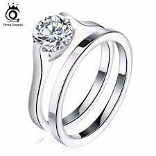 stainless steel engagement ring stainless steel wedding engagement rings for women shop