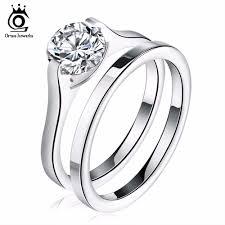 Stainless Steel Wedding Rings by Romantic Stainless Steel Wedding Engagement Rings For Women Shop
