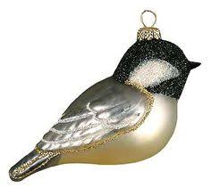 glass ornaments blown glass bird ornament