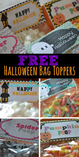 free halloween bag topper printables pumpkin spider