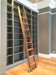 Rolling Ladder Bookcase The Bookcase Is Spray Painted In Farrow Ball Plummet And The Solid