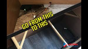 fix camper floor coleman popup camper youtube