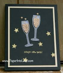new year s card stin up happy new year handmade card paper into